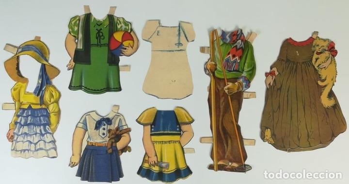 Coleccionismo Recortables: 19 FIGURAS. COLECCIÓN DE RECORTABLES DE MUÑECAS. (CIRCA 1960) ESPAÑA - Foto 16 - 170491664
