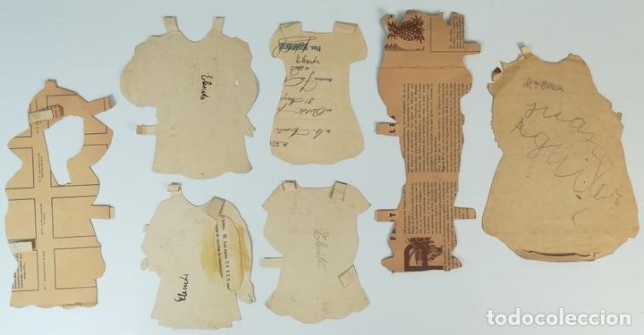 Coleccionismo Recortables: 19 FIGURAS. COLECCIÓN DE RECORTABLES DE MUÑECAS. (CIRCA 1960) ESPAÑA - Foto 17 - 170491664