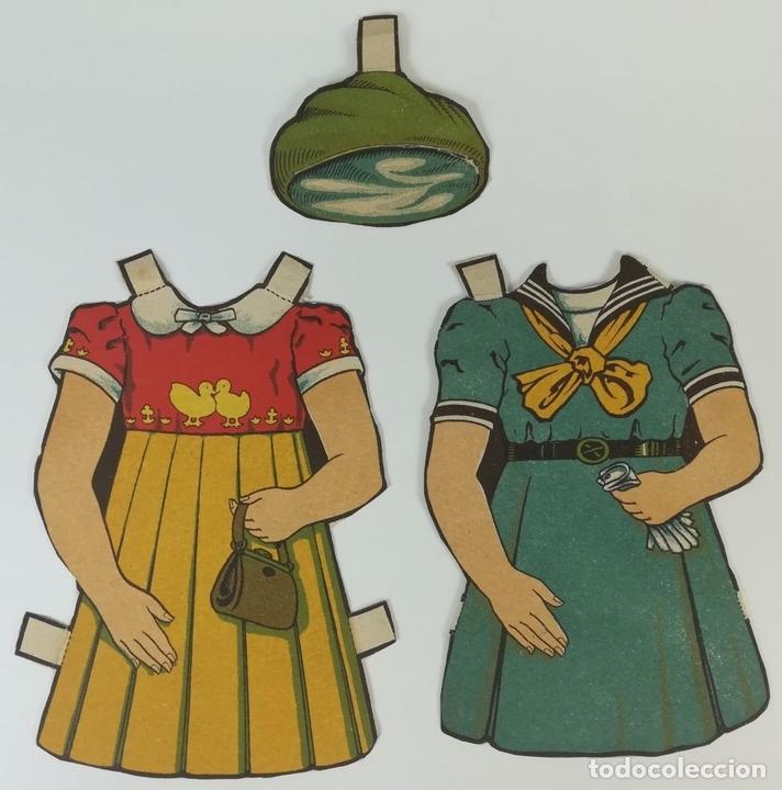 Coleccionismo Recortables: 19 FIGURAS. COLECCIÓN DE RECORTABLES DE MUÑECAS. (CIRCA 1960) ESPAÑA - Foto 24 - 170491664