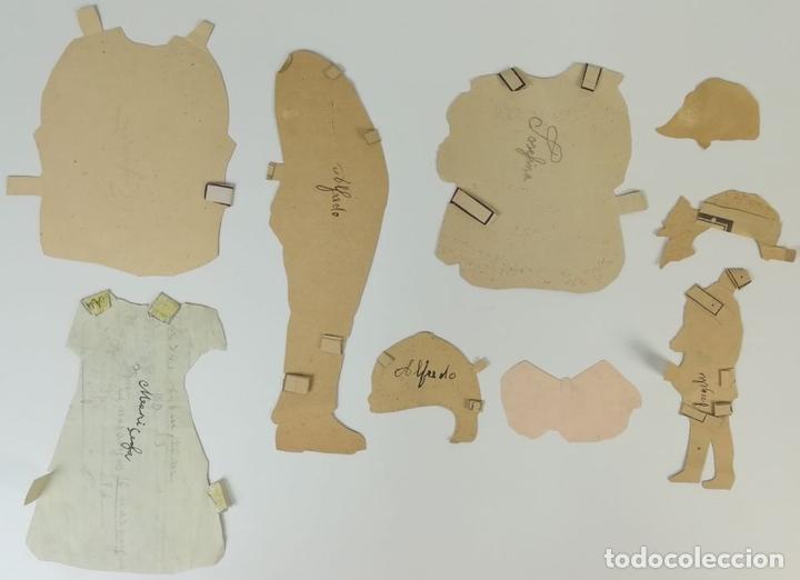 Coleccionismo Recortables: 19 FIGURAS. COLECCIÓN DE RECORTABLES DE MUÑECAS. (CIRCA 1960) ESPAÑA - Foto 27 - 170491664