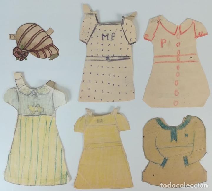 Coleccionismo Recortables: 19 FIGURAS. COLECCIÓN DE RECORTABLES DE MUÑECAS. (CIRCA 1960) ESPAÑA - Foto 28 - 170491664
