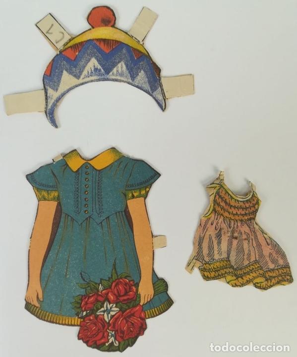 Coleccionismo Recortables: 19 FIGURAS. COLECCIÓN DE RECORTABLES DE MUÑECAS. (CIRCA 1960) ESPAÑA - Foto 34 - 170491664