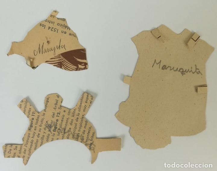 Coleccionismo Recortables: 19 FIGURAS. COLECCIÓN DE RECORTABLES DE MUÑECAS. (CIRCA 1960) ESPAÑA - Foto 35 - 170491664