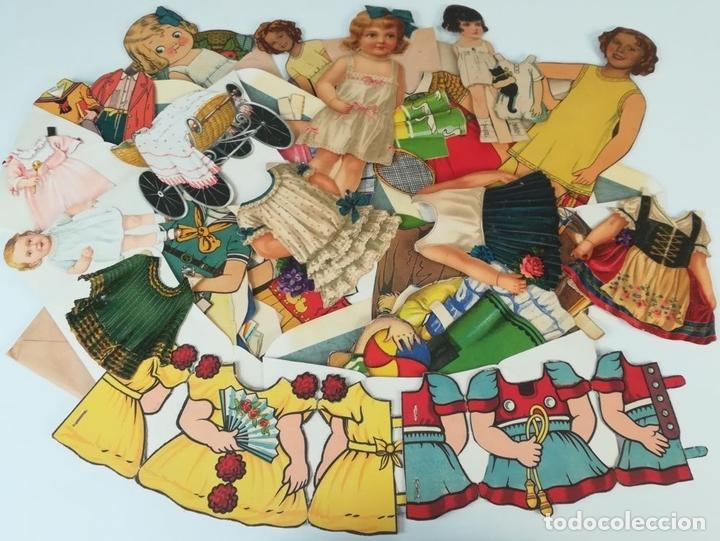 Coleccionismo Recortables: 19 FIGURAS. COLECCIÓN DE RECORTABLES DE MUÑECAS. (CIRCA 1960) ESPAÑA - Foto 40 - 170491664