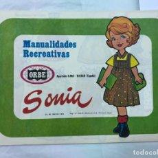 Coleccionismo Recortables: ÁLBUM 50 LÁMINAS RECORTABLES MUÑECAS SONIA MANUALIDADES RECREATIVAS (ORBE,1978) JULI STRUTH OFRT. Lote 191583311
