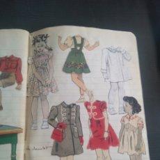 Coleccionismo Recortables: ANTIGUO CUADERNO 40 HOJAS CON RECORTABLES AÑO 1940. Lote 172336552