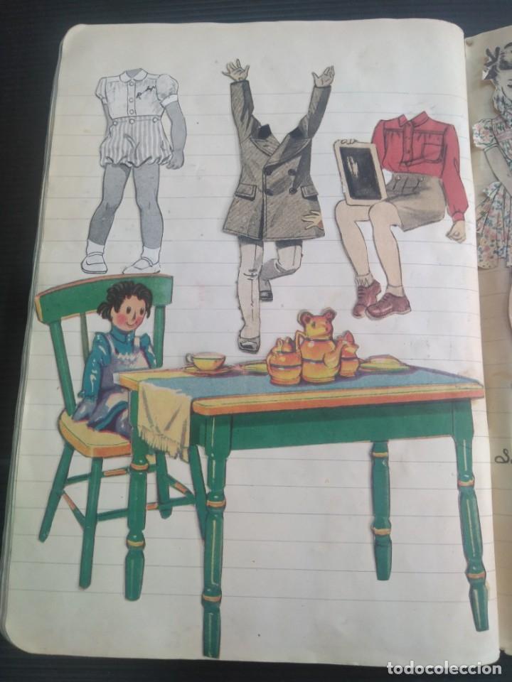 Coleccionismo Recortables: Antiguo cuaderno 40 hojas con recortables año 1940 - Foto 2 - 172336552