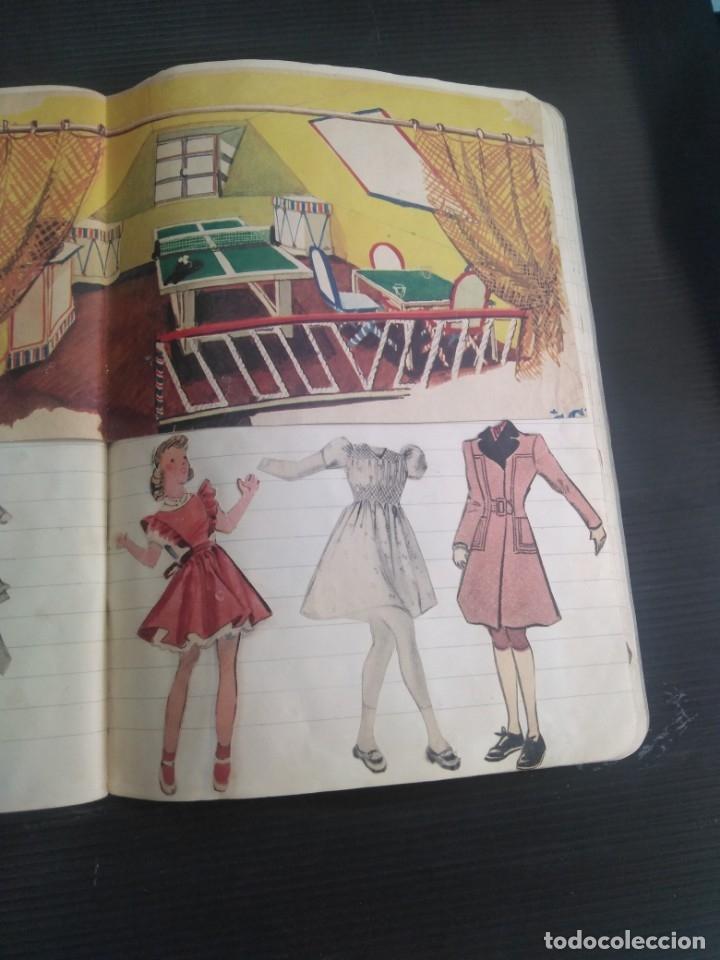 Coleccionismo Recortables: Antiguo cuaderno 40 hojas con recortables año 1940 - Foto 5 - 172336552