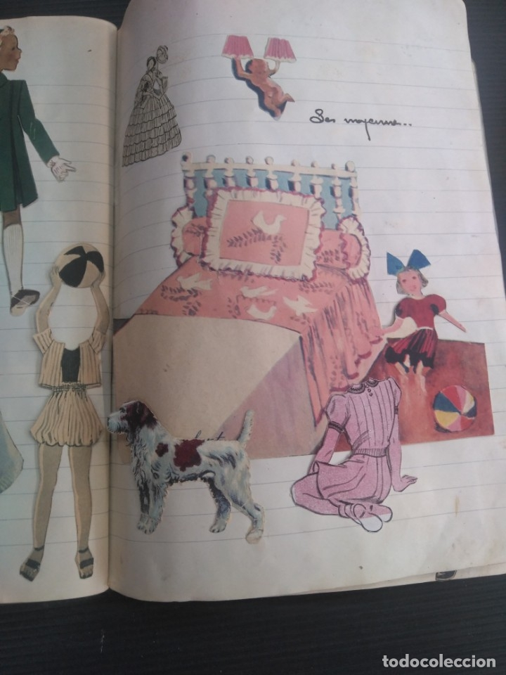 Coleccionismo Recortables: Antiguo cuaderno 40 hojas con recortables año 1940 - Foto 7 - 172336552