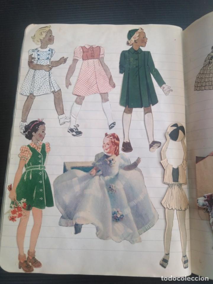 Coleccionismo Recortables: Antiguo cuaderno 40 hojas con recortables año 1940 - Foto 8 - 172336552
