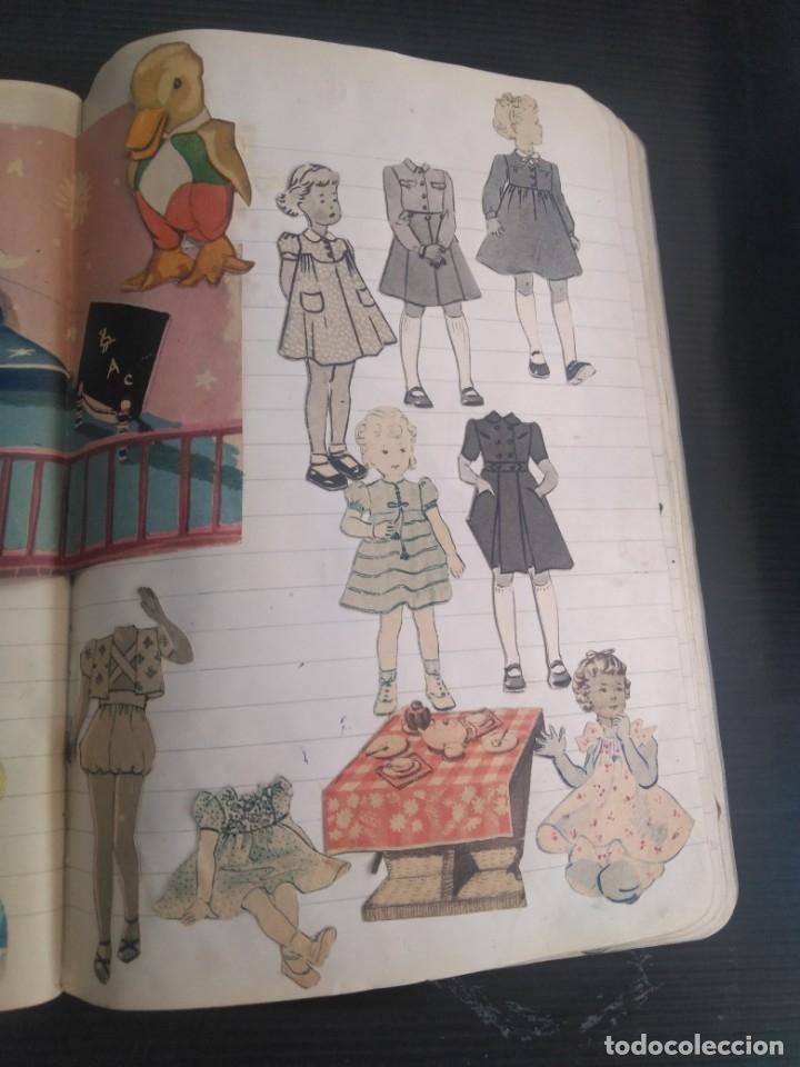 Coleccionismo Recortables: Antiguo cuaderno 40 hojas con recortables año 1940 - Foto 9 - 172336552