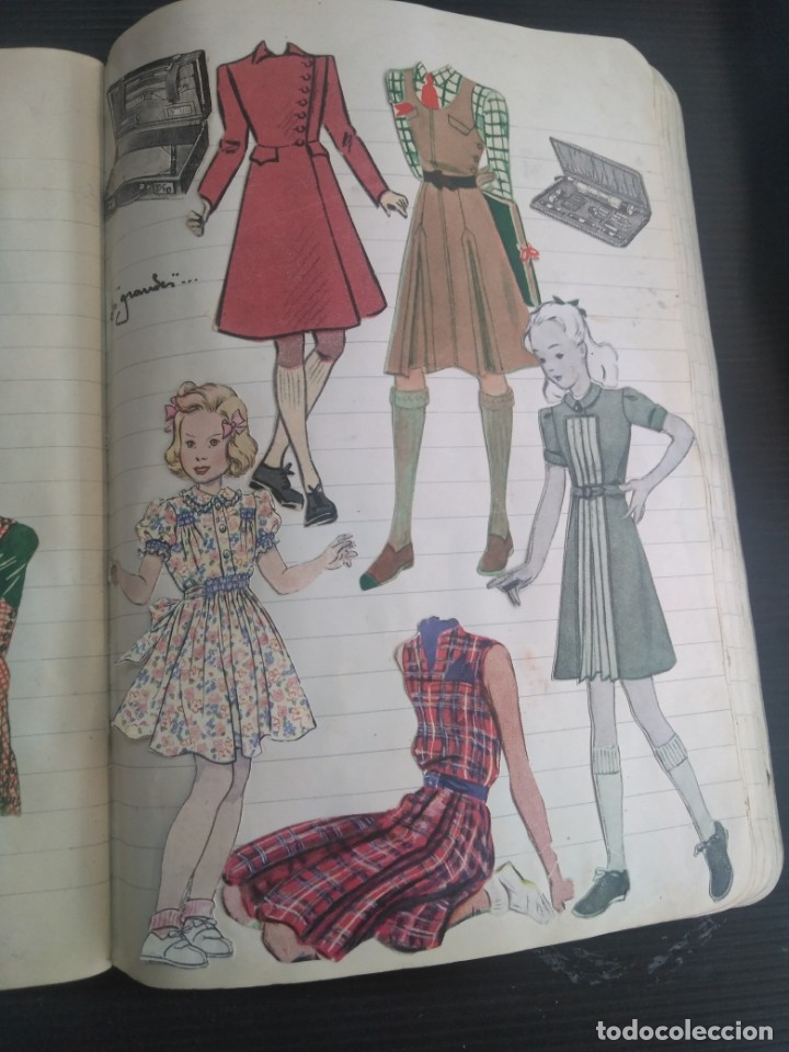Coleccionismo Recortables: Antiguo cuaderno 40 hojas con recortables año 1940 - Foto 16 - 172336552