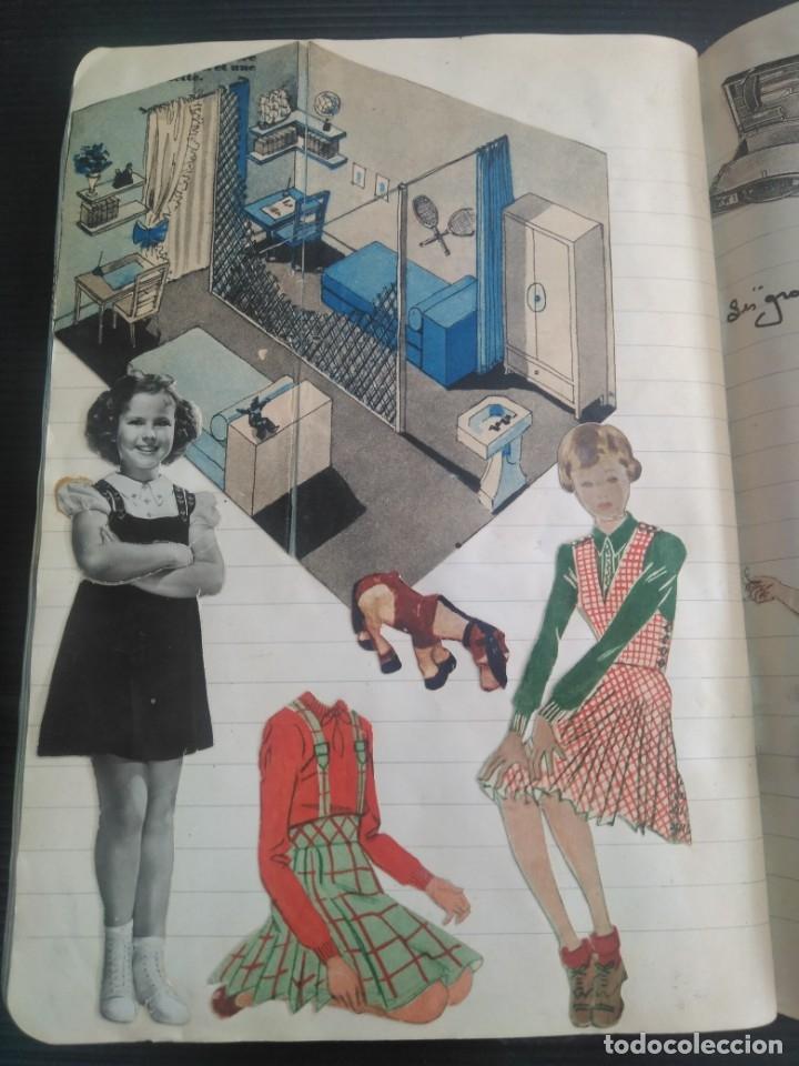 Coleccionismo Recortables: Antiguo cuaderno 40 hojas con recortables año 1940 - Foto 17 - 172336552