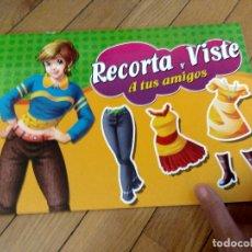 Coleccionismo Recortables: LIBRO DE RECORTABLES RECORTA Y VISTE A TUS AMIGOS AÑO 2018. Lote 173811872