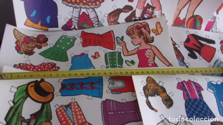 Coleccionismo Recortables: lote 7 recortables muñeca diferentes,miden 34x24 cm,años 70,en muy buen estado - Foto 4 - 194121015