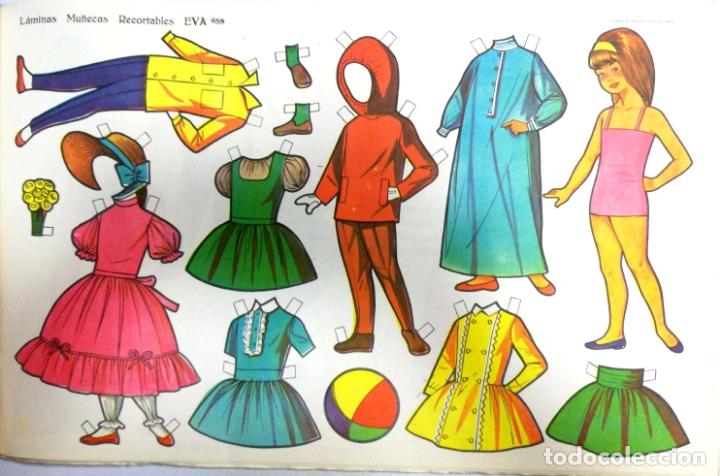 Coleccionismo Recortables: MUÑECAS RECORTABLES EVA. 50 LAMINAS SURTIDAS. Nº 951- 960. ED. VASCO AMERICANA. 1ª SERIE. 1962. - Foto 8 - 175503422