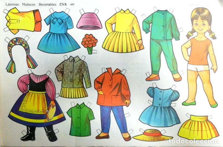 Coleccionismo Recortables: MUÑECAS RECORTABLES EVA. 50 LAMINAS SURTIDAS. Nº 951- 960. ED. VASCO AMERICANA. 1ª SERIE. 1962. - Foto 17 - 175503422