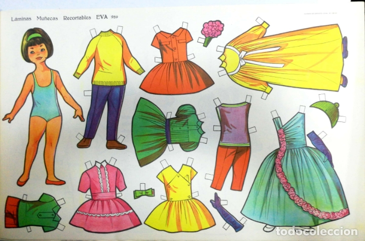 Coleccionismo Recortables: MUÑECAS RECORTABLES EVA. 50 LAMINAS SURTIDAS. Nº 951- 960. ED. VASCO AMERICANA. 1ª SERIE. 1962. - Foto 19 - 175503422