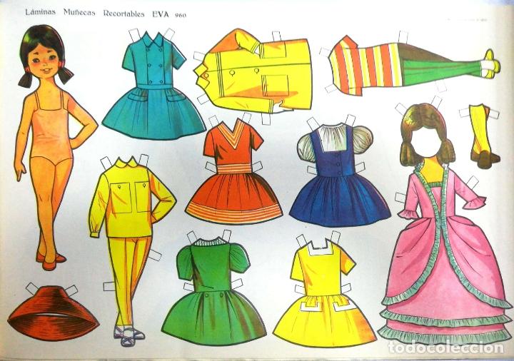 Coleccionismo Recortables: MUÑECAS RECORTABLES EVA. 50 LAMINAS SURTIDAS. Nº 951- 960. ED. VASCO AMERICANA. 1ª SERIE. 1962. - Foto 30 - 175503422