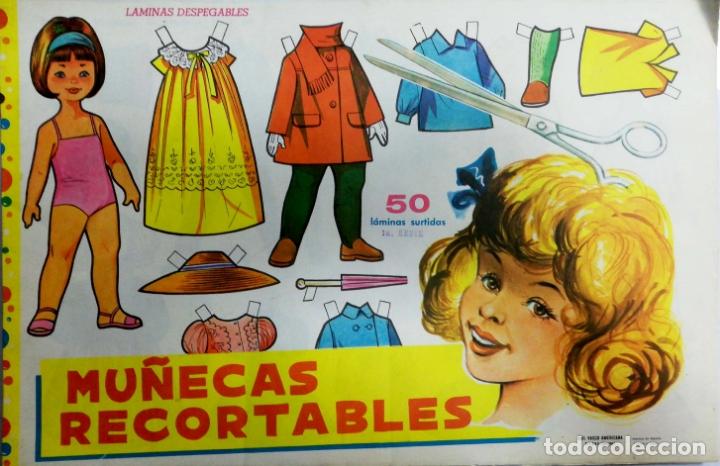 MUÑECAS RECORTABLES EVA. 50 LAMINAS SURTIDAS. Nº 951- 960. ED. VASCO AMERICANA. 1ª SERIE. 1962. (Coleccionismo - Recortables - Muñecas)