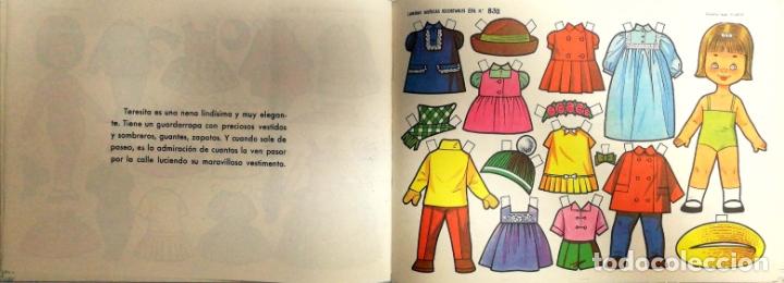 Coleccionismo Recortables: MUÑECAS RECORTABLES EVA. 50 LAMINAS SURTIDAS. Nº 831- 840. ED. VASCO AMERICANA. 1ª SERIE. 1964. - Foto 3 - 175504349