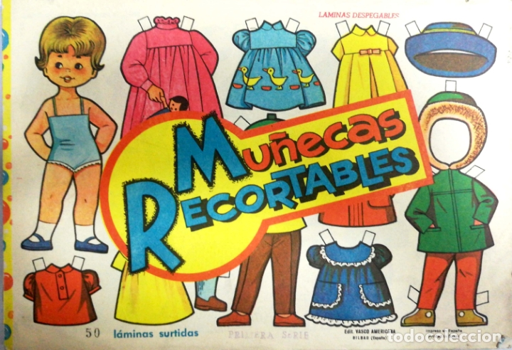 MUÑECAS RECORTABLES EVA. 50 LAMINAS SURTIDAS. Nº 831- 840. ED. VASCO AMERICANA. 1ª SERIE. 1964. (Coleccionismo - Recortables - Muñecas)