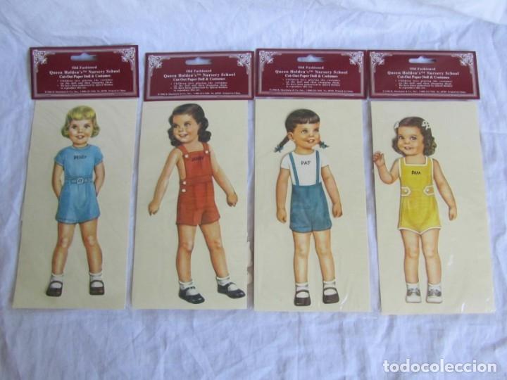 Coleccionismo Recortables: 4 recortables muñecas con vestidos Queen Holden 1986 Sin uso - Foto 2 - 175716148