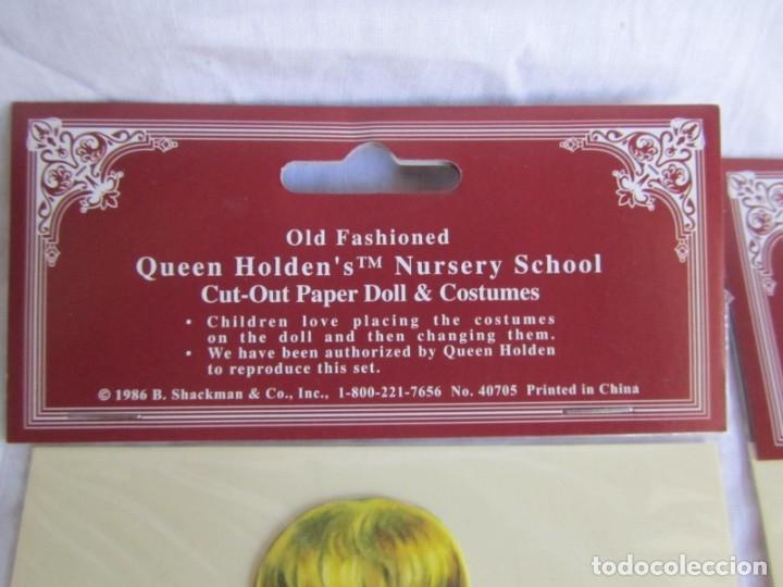 Coleccionismo Recortables: 4 recortables muñecas con vestidos Queen Holden 1986 Sin uso - Foto 4 - 175716148