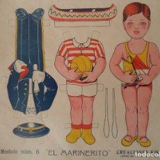 Coleccionismo Recortables: RECORTABLE CREACIONES KIKI MODELO Nº 6 EL MARINERITO 32X28 CM. Lote 175777307