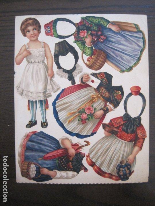 Coleccionismo Recortables: RECORTABLE MUÑECA-SIGLO XIX -MUY ANTIGUA-VER FOTOS-(V-17.573) - Foto 2 - 175777857