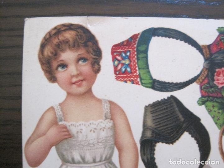 Coleccionismo Recortables: RECORTABLE MUÑECA-SIGLO XIX -MUY ANTIGUA-VER FOTOS-(V-17.573) - Foto 3 - 175777857