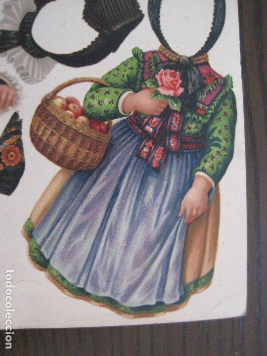 Coleccionismo Recortables: RECORTABLE MUÑECA-SIGLO XIX -MUY ANTIGUA-VER FOTOS-(V-17.573) - Foto 4 - 175777857