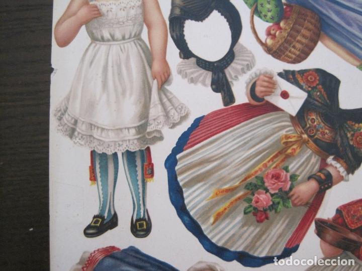 Coleccionismo Recortables: RECORTABLE MUÑECA-SIGLO XIX -MUY ANTIGUA-VER FOTOS-(V-17.573) - Foto 5 - 175777857