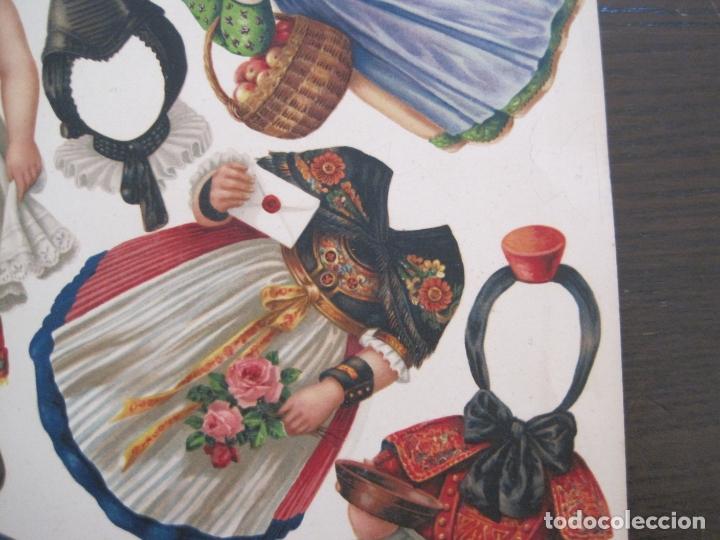 Coleccionismo Recortables: RECORTABLE MUÑECA-SIGLO XIX -MUY ANTIGUA-VER FOTOS-(V-17.573) - Foto 6 - 175777857