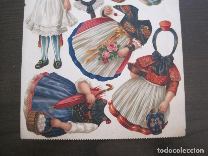 Coleccionismo Recortables: RECORTABLE MUÑECA-SIGLO XIX -MUY ANTIGUA-VER FOTOS-(V-17.573) - Foto 7 - 175777857