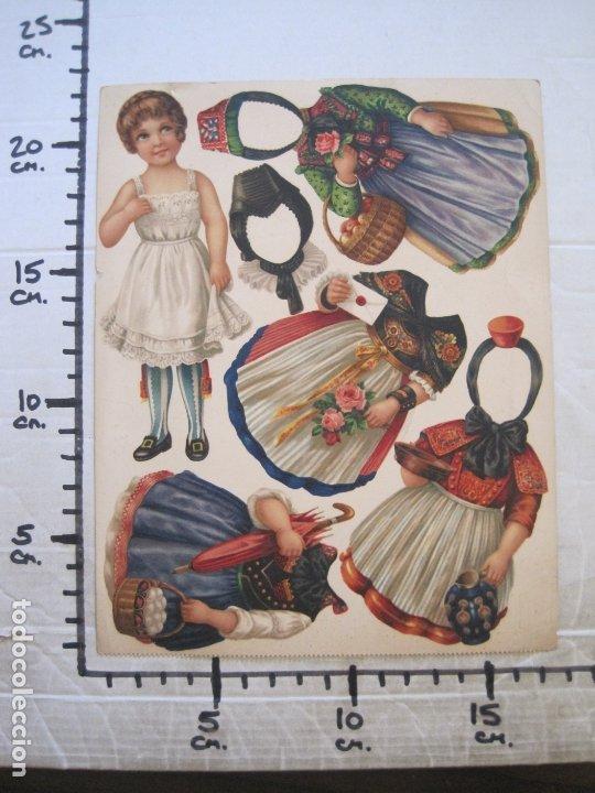 Coleccionismo Recortables: RECORTABLE MUÑECA-SIGLO XIX -MUY ANTIGUA-VER FOTOS-(V-17.573) - Foto 9 - 175777857