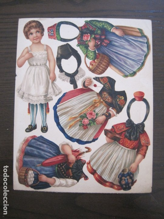 RECORTABLE MUÑECA-SIGLO XIX -MUY ANTIGUA-VER FOTOS-(V-17.573) (Coleccionismo - Recortables - Muñecas)
