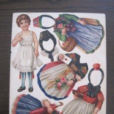 Coleccionismo Recortables: RECORTABLE MUÑECA-SIGLO XIX -MUY ANTIGUA-VER FOTOS-(V-17.573). Lote 175777857