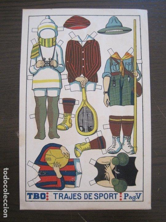 Coleccionismo Recortables: RECORTABLE MUÑECA-AÑOS 20-TBO-TRAJES DE SPORT PAG V-ORIGINAL-VER FOTOS-(V-17.574) - Foto 2 - 175778217