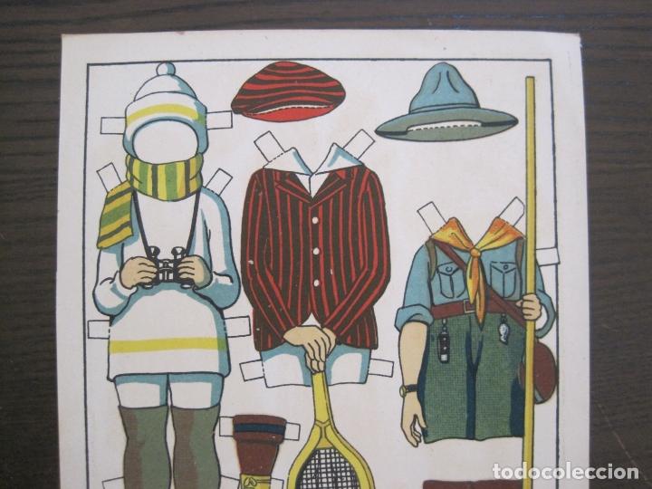 Coleccionismo Recortables: RECORTABLE MUÑECA-AÑOS 20-TBO-TRAJES DE SPORT PAG V-ORIGINAL-VER FOTOS-(V-17.574) - Foto 3 - 175778217
