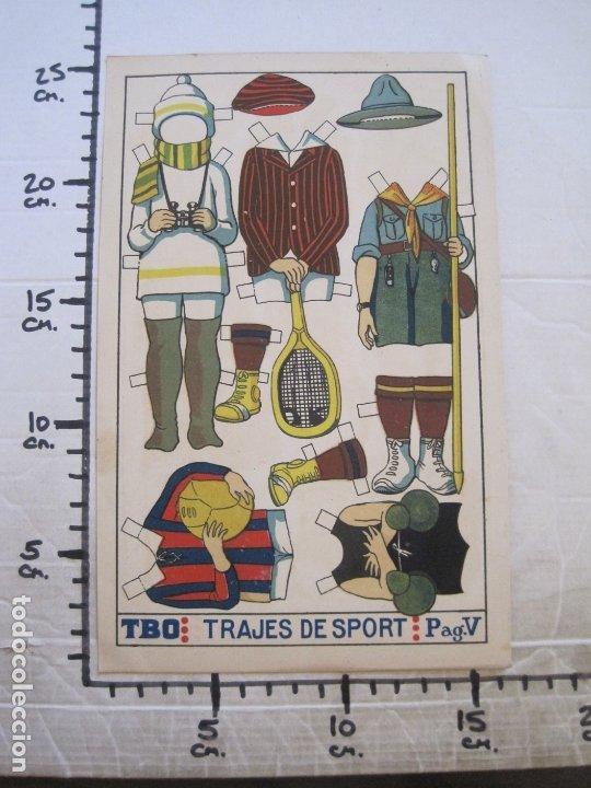 Coleccionismo Recortables: RECORTABLE MUÑECA-AÑOS 20-TBO-TRAJES DE SPORT PAG V-ORIGINAL-VER FOTOS-(V-17.574) - Foto 6 - 175778217