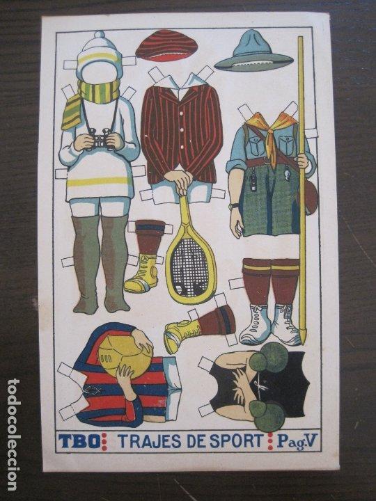 RECORTABLE MUÑECA-AÑOS 20-TBO-TRAJES DE SPORT PAG V-ORIGINAL-VER FOTOS-(V-17.574) (Coleccionismo - Recortables - Muñecas)