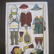 Coleccionismo Recortables: RECORTABLE MUÑECA-AÑOS 20-TBO-TRAJES DE SPORT PAG V-ORIGINAL-VER FOTOS-(V-17.574). Lote 175778217