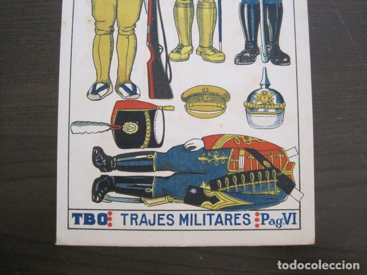 Coleccionismo Recortables: RECORTABLE MUÑECA-AÑOS 20-TBO-TRAJES MILITARES-PAG VI-ORIGINAL-VER FOTOS-(V-17.575) - Foto 3 - 175778313