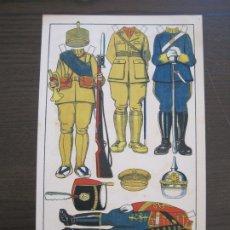 Coleccionismo Recortables: RECORTABLE MUÑECA-AÑOS 20-TBO-TRAJES MILITARES-PAG VI-ORIGINAL-VER FOTOS-(V-17.575). Lote 175778313