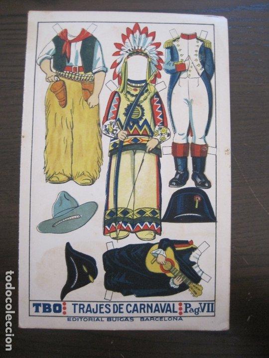 Coleccionismo Recortables: RECORTABLE MUÑECA-AÑOS 20-TBO-TRAJES DE CARNAVAL-PAG VII-ORIGINAL-VER FOTOS-(V-17.576) - Foto 2 - 175778382