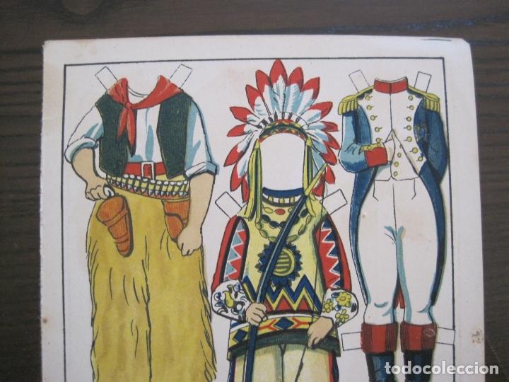 Coleccionismo Recortables: RECORTABLE MUÑECA-AÑOS 20-TBO-TRAJES DE CARNAVAL-PAG VII-ORIGINAL-VER FOTOS-(V-17.576) - Foto 3 - 175778382