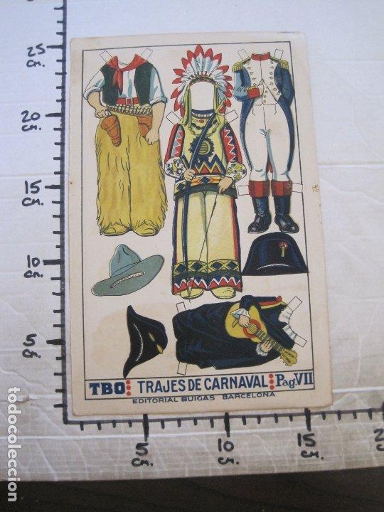 Coleccionismo Recortables: RECORTABLE MUÑECA-AÑOS 20-TBO-TRAJES DE CARNAVAL-PAG VII-ORIGINAL-VER FOTOS-(V-17.576) - Foto 7 - 175778382