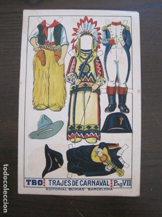 RECORTABLE MUÑECA-AÑOS 20-TBO-TRAJES DE CARNAVAL-PAG VII-ORIGINAL-VER FOTOS-(V-17.576) (Coleccionismo - Recortables - Muñecas)