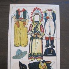Coleccionismo Recortables: RECORTABLE MUÑECA-AÑOS 20-TBO-TRAJES DE CARNAVAL-PAG VII-ORIGINAL-VER FOTOS-(V-17.576). Lote 175778382